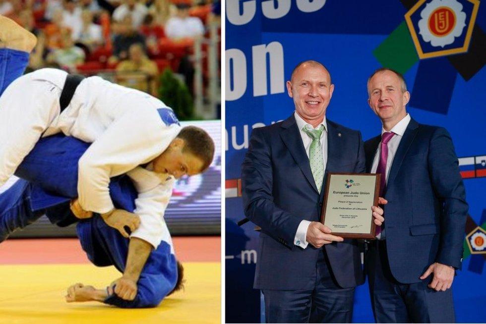 K. Bauža (kairėje) ir V. Sinkevičius (dešinėje su diplomu) (tv3.lt fotomontažas)