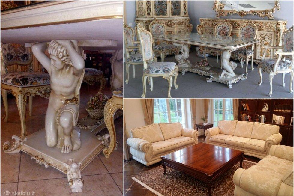 Siūlomi išskirtiniai, bet retam įperkami baldai: lietuviai baksnoja į kainą (nuotr. Turto savininkų)