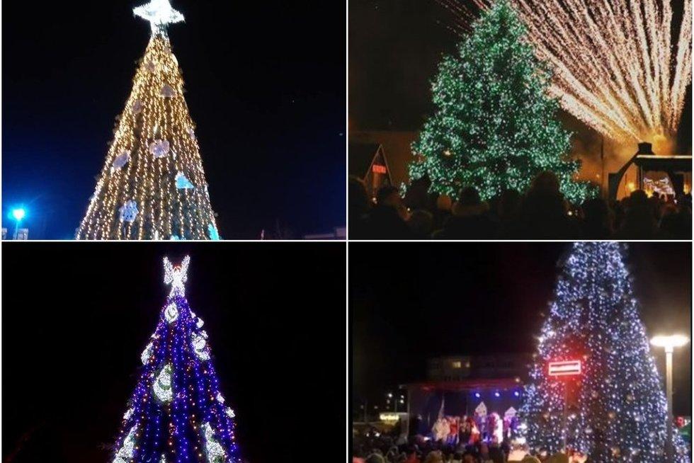 Lietuvoje įžiebiamos Kalėdų eglės (tv3.lt fotomontažas)