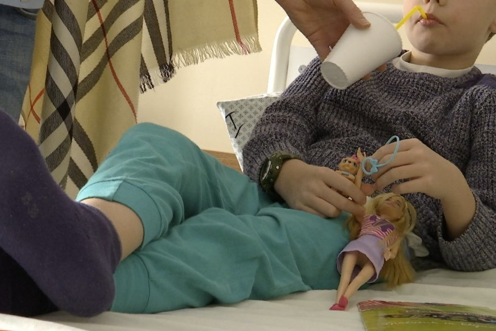 Vaikus į ligos patalą pradėjo guldyti gripas