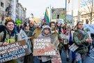 Gyvūnais persirengę protestuotojai reikalavo stabdyti kirtimus giriose (Irmantas Gelūnas/Fotobankas)