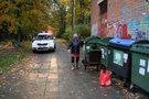 Pirmadienį vakare Vilniuje šiukšlių konteineryje aptikta, spėjama, suvažinėta stirna