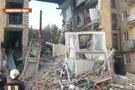 Ukrainoje sprogo daugiabutis (nuotr. stop kadras)