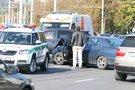 Žirmūnų gatvėje susidūrė du lengvieji automobiliai (nuotr. Broniaus Jablonsko)