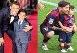 Ronaldo ir Messi šeimas sujungė ženklas tarsi iš dangaus