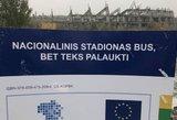 Feisbuke plinta nacionalinį stadioną išjuokiantis plakatas