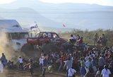 Tragedija Meksikoje: į žiūrovus nuskriejęs visureigis monstras nusinešė aštuonias žmonių gyvybes