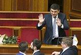 Ukrainos parlamentas patvirtino naujos sudėties vyriausybę