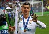 """Cristiano Ronaldo akibrokštas po finalo: buvo malonu žaisti """"Real"""" klube"""