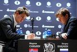 Kovoje dėl pasaulio šachmatų čempiono titulo – vis dar lygybė