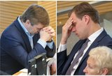 """Karbauskis pasiteisino dėl taikinio su užrašu """"Gabrielius"""" Seime"""
