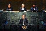 Sirijai skirta Putino kalba Jungtinėse Tautose užgožė Ukrainos klausimą