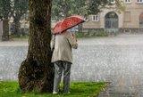 Artimiausią parą orai nelepins: be skėčio geriau nekišti nosies laukan
