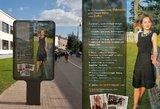 Originaliausias būdas rasti darbą: Tadas Vidmantas žmonos CV reklamuoja Vilniaus centre