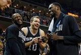"""""""Spurs"""" žengė į pusfinalį, kuriame žais su """"Rockets"""""""