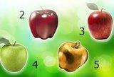Išsirinkite vieną obuolį: sužinosite, koks iš tiesų esate
