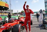 """Italijos GP: Po Hamiltono klaidos – 9 metus laukta """"Ferrari"""" pergalė"""