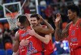 """CSKA užsitikrino pirmą vietą, """"Baskonia"""" dovanos """"Žalgiriui"""" neįteikė"""