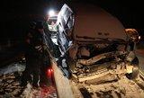 BMW avarija prie Vilniaus: situaciją apsunkino pūga