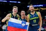 Slovėnija su trenksmu žengė į finalą: pusfinalyje sutriuškinta Ispanija