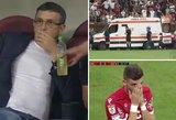 Lietuvio treneris futbolo rungtynių metu vos išvengė mirties gniaužtų