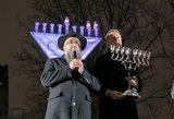 Vilniuje uždegta Didžioji Menora: prasideda žydiškoji Chanuka