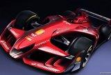 """""""Ferrari"""" žvelgia į ateitį: taip įspūdingai atrodys """"Formulės-1"""" bolidas"""