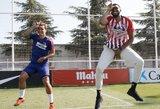 """""""Atletico"""" treniruotėje apsilankiusi NBA žvaigždė metė iššūkį Antoine'ui Griezmannui"""