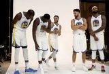 """NBA žiniasklaidos diena: nauji veidai, įspūdingiausi kadrai ir grėsmė """"Warriors"""" žvaigždynui"""