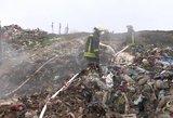 Vaizdai iš Šiaulių rajone sąvartyne kilusio gaisro