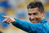 Vakaras, kai Cristiano Ronaldo taps dar vieno rekordo savininku
