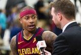 """Laukimas baigtas: Isaiah Thomas debiutuos """"Cavaliers"""""""