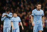 """Triuškinamą nesėkmę patyrė Anglijos""""Premier""""lygos lyderiai""""Manchester City""""futbolininkai"""