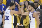 """Vakarų konferencijos finalo starte – Curry tritaškių šou ir galinga """"Warriors"""" pergalė"""