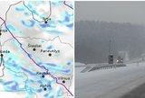Lietuvą užklos sniegas: perspėja apie pūgą