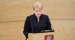Kur smigs aštrios Dalios Grybauskaitės kritikos strėlės per metinį pranešimą?