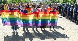 Gėjų parade – šokiruojantis vaizdas: į kovą prieš homofobiją įtrauktas net mažametis!