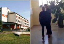 """Plinta patyčių vaizdai iš mokyklos Radviliškyje, direktorės komentaras """"aš koncerte"""""""