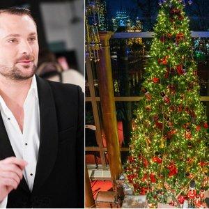 Vilniuje sužibo Petruškevičiaus kurta Kalėdų eglė: sunku atitraukti akis