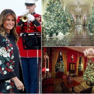 Melania Trump parodė kalėdiškai išpuoštus Baltuosius rūmus: turi užslėptą mintį