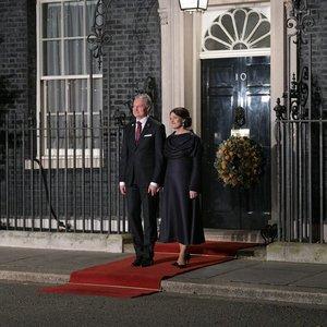 Nausėdos susitiko su karaliene: pirmoji šalies dama žavėjo subtilia elegancija