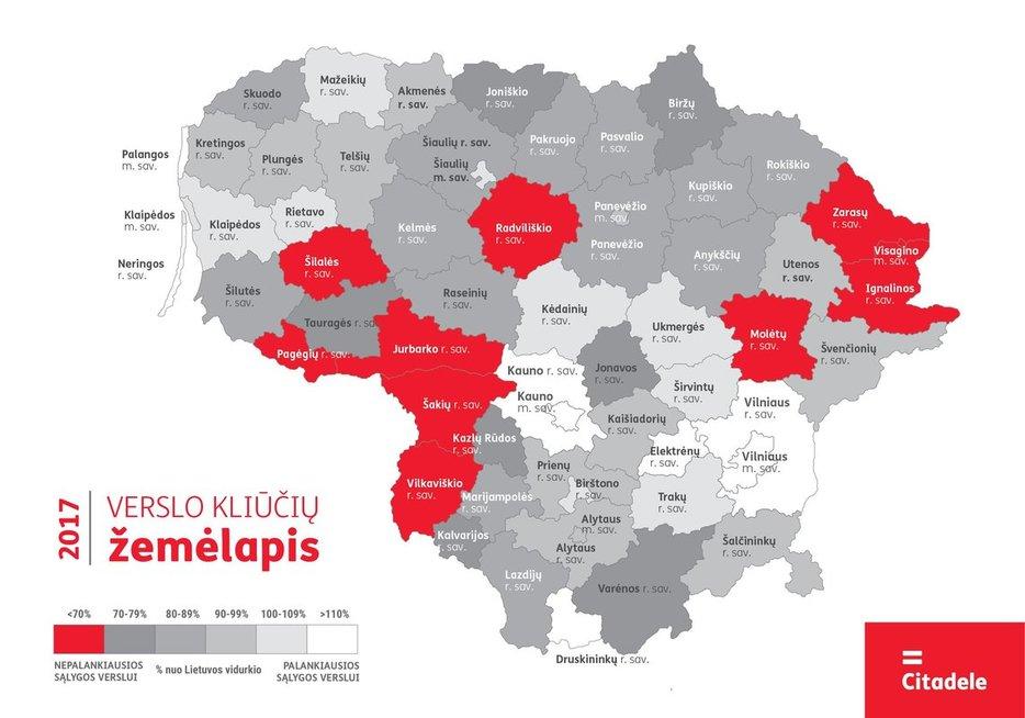 Verslo kliūčių žemėlapis (nuotr. Organizatorių)