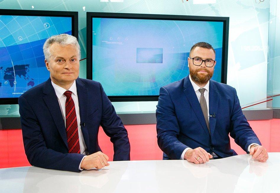 Gitanas Nausėda, Marius Dubnikovas (nuotr. Tv3.lt/Ruslano Kondratjevo)