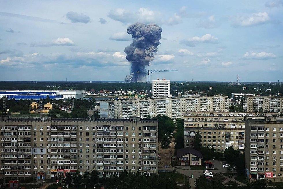 Rusijos sprogmenų fabrike driokstelėjo sprogimas (nuotr. SCANPIX)