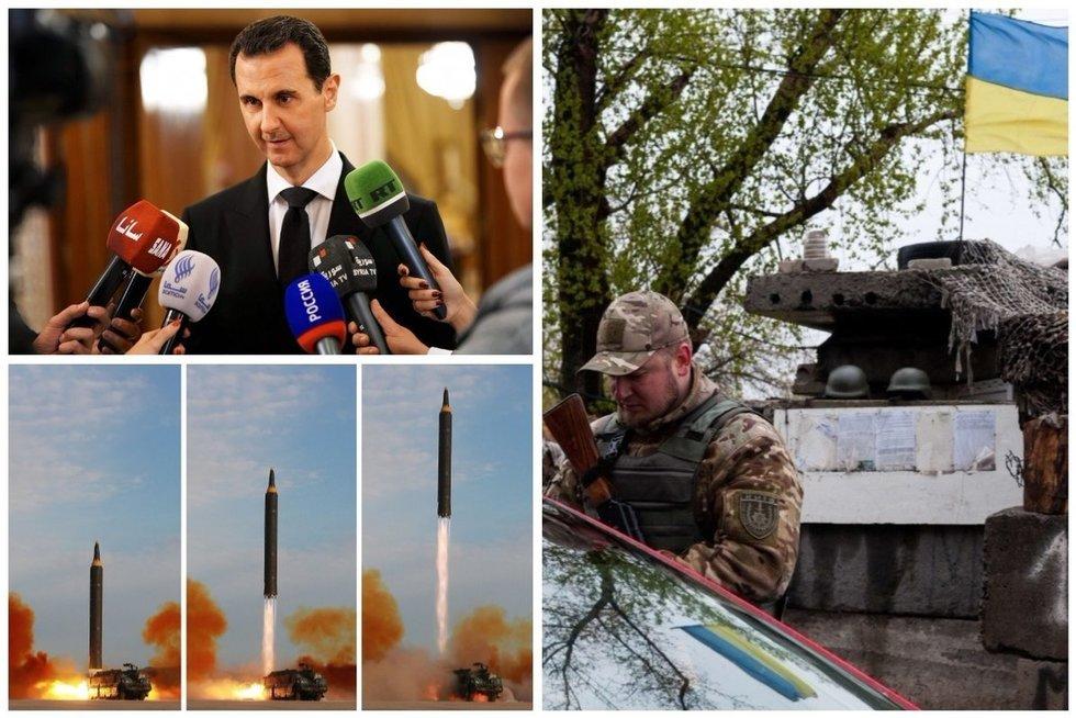 Karai 2018-aisiais: kas laukia Sirijos, Ukrainos ir Šiaurės Korėjos? (nuotr. SCANPIX)