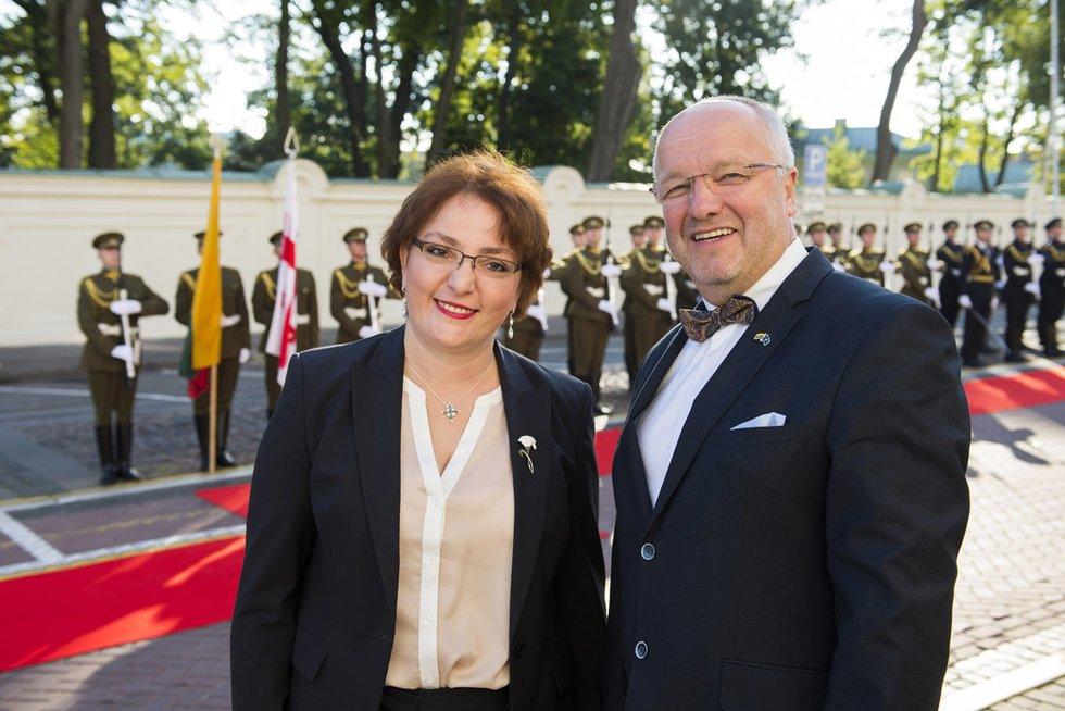 Gruzijos gynybos ministrės Tinatin Khidašeli vizitas Lietuvoje (nuotr. KAM)