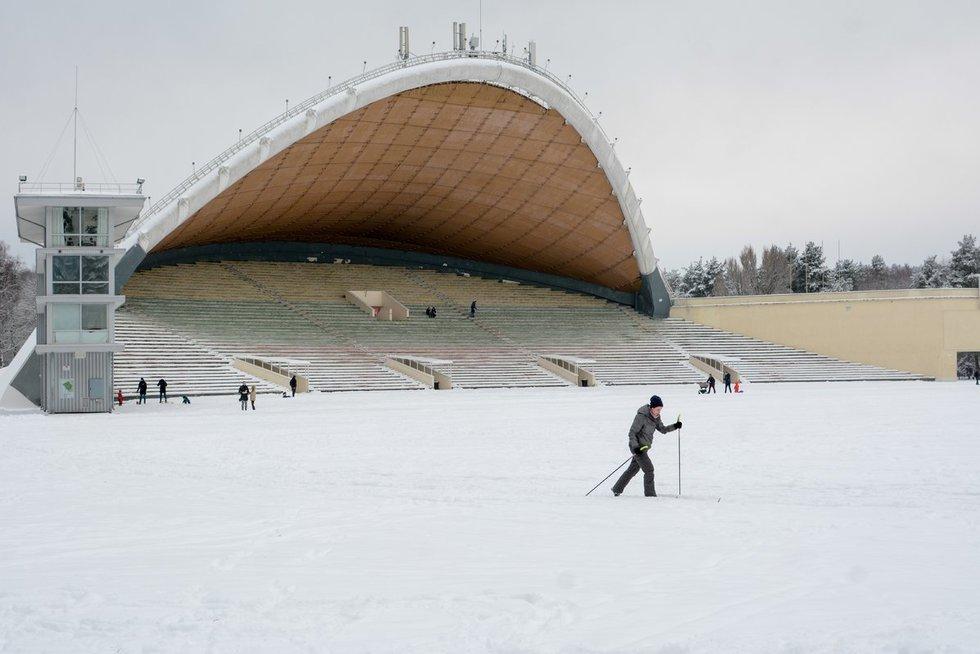 Žiemos pramogos Vingio parke (nuotr. Fotodiena.lt)