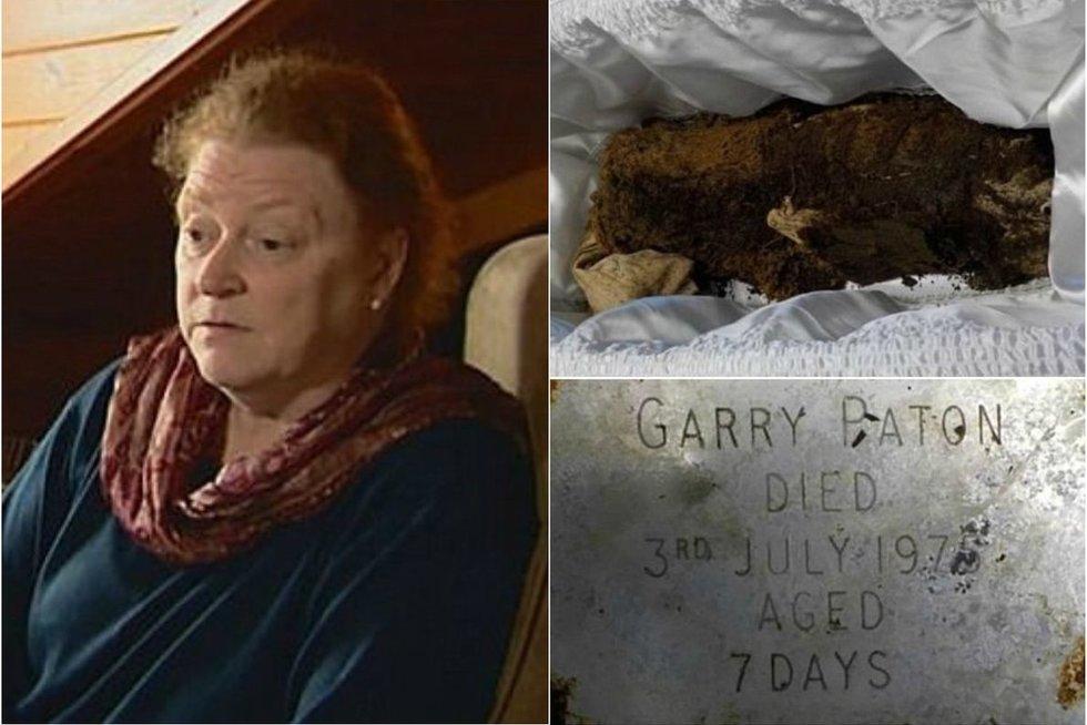 Sugniuždyta mama ieško teisybės: iškasė kūdikio kapą ir rado tuščią karstą (nuotr. BBC vaizdo įr.)