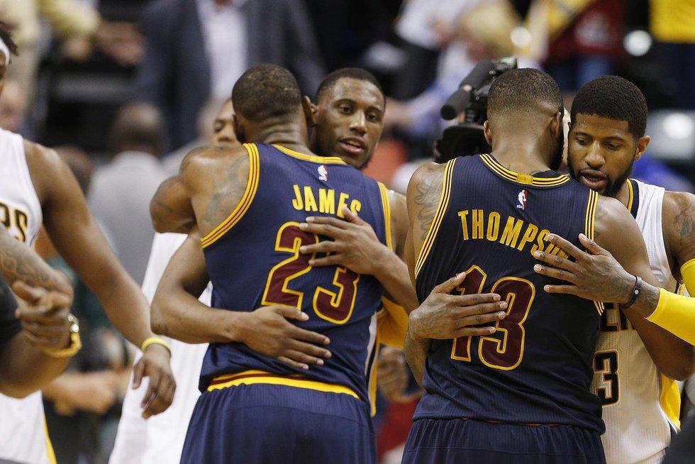 "Indianos ""Pacers"" – Klivlando ""Cavaliers"" 102:106 (nuotr. SCANPIX)"