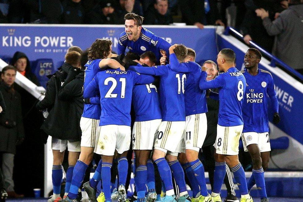 """Leicester"" triumfo akimirka (nuotr. SCANPIX)"